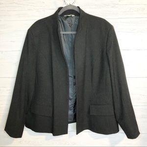 Austin Reed charcoal gray open front blazer